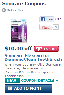 printable Sonicare coupons