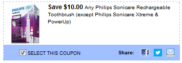 Philips Sonicare rechargeable coupon ( Xtreme and PowerUp)